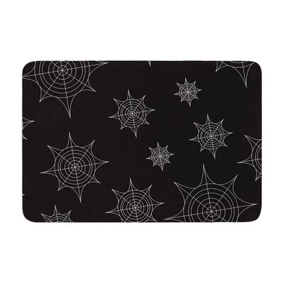 Mini Webs Memory Foam Bath Rug Size: 0.5 H x 17 W x 24 D, Color: Black