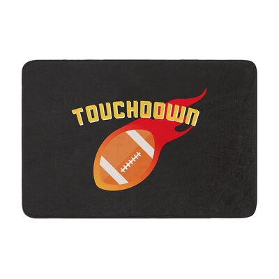 Touchdown XLVI Sports Football Memory Foam Bath Rug Size: 0.5 H x 24 W x 36 D