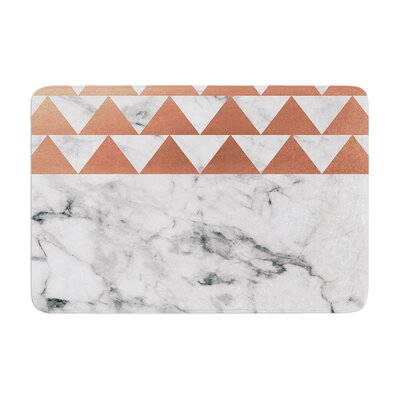 Marble and Metal Memory Foam Bath Rug Size: 0.5 H x 17 W x 24 D