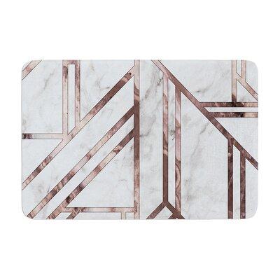 Marble Mosaic Digital Geometric Memory Foam Bath Rug Size: 0.5 H x 24 W x 36 D