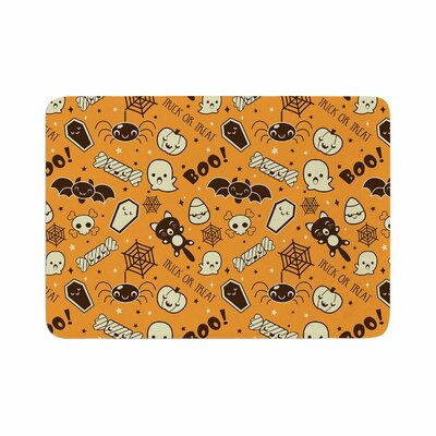 All Cute Halloween Pattern Memory Foam Bath Rug Size: 0.5 H x 24 W x 36 D