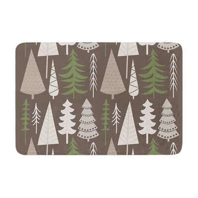 Happy Forest Memory Foam Bath Rug Size: 0.5 H x 17 W x 24 D, Color: Brown