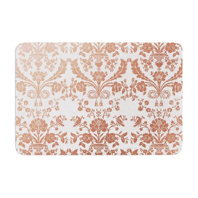 Baroque Rose Abstract Floral Memory Foam Bath Rug Size: 0.5 H x 17 W x 24 D, Color: Rose