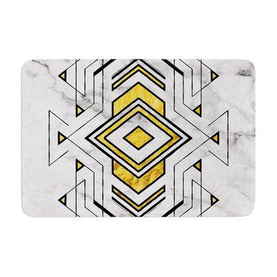 Geo Marble Graphic Tribal Memory Foam Bath Rug Size: 0.5 H x 17 W x 24 D