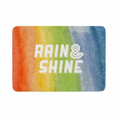 Rain and Shine Abstract Memory Foam Bath Rug Size: 0.5 H x 24 W x 36 D