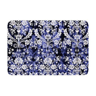 Baroque Velvet Abstract Floral Memory Foam Bath Rug Size: 0.5 H x 24 W x 36 D