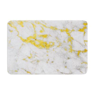 Flake Marble Metal Memory Foam Bath Rug Size: 0.5 H x 17 W x 24 D
