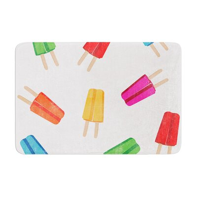 Raining Popsicle Digital Memory Foam Bath Rug Size: 0.5 H x 17 W x 24 D