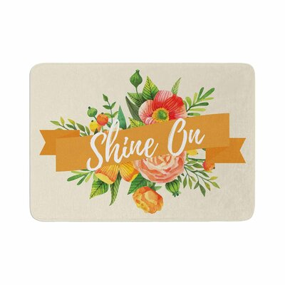 Shine on Memory Foam Bath Rug Size: 0.5 H x 17 W x 24 D
