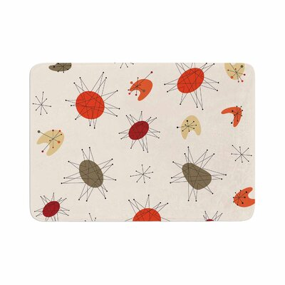 Retro Party Memory Foam Bath Rug Size: 0.5 H x 17 W x 24 D