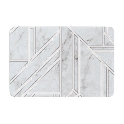 Marble Mosaic Geometric Digital Memory Foam Bath Rug Size: 0.5 H x 24 W x 36 D