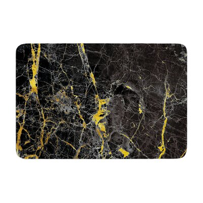 Fleck Marble Digital Abstract Memory Foam Bath Rug Size: 0.5 H x 17 W x 24 D