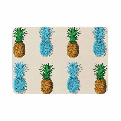 Fineapple Food Abstract Memory Foam Bath Rug Size: 0.5 H x 24 W x 36 D