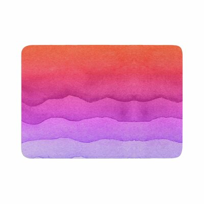 Ombre Sunset Coral Abstract Memory Foam Bath Rug Size: 0.5 H x 17 W x 24 D