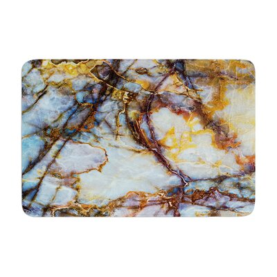 Opalized Marble Memory Foam Bath Rug Size: 0.5 H x 17 W x 24 D