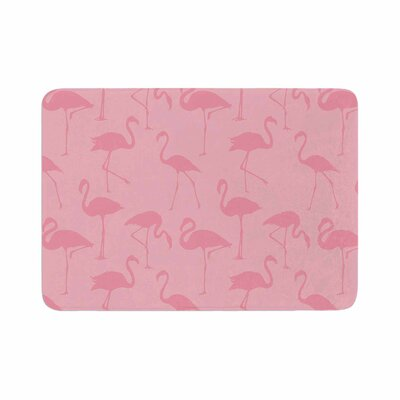 Animals Abstract Memory Foam Bath Rug Size: 0.5 H x 17 W x 24 D