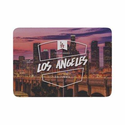 Los Angeles ll Memory Foam Bath Rug Size: 0.5 H x 17 W x 24 D