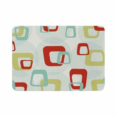 Retro Squares Memory Foam Bath Rug Size: 0.5 H x 24 W x 36 D