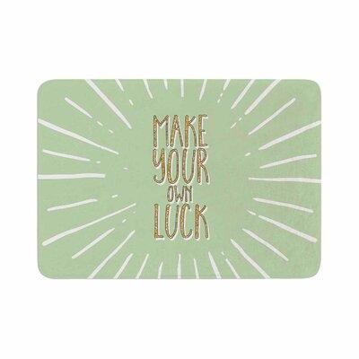 Make Your Own Luck Memory Foam Bath Rug Size: 0.5 H x 24 W x 36 D