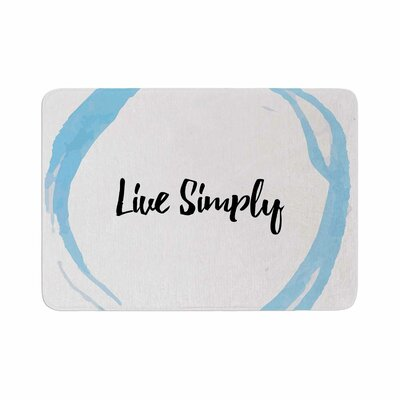 Live Simply Memory Foam Bath Rug Size: 0.5 H x 17 W x 24 D