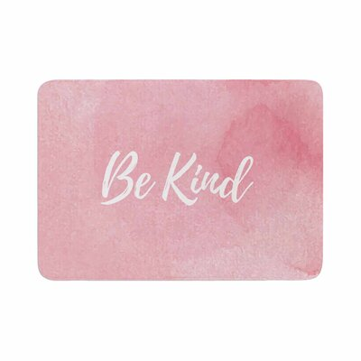 Be Kind Memory Foam Bath Rug Size: 0.5 H x 17 W x 24 D