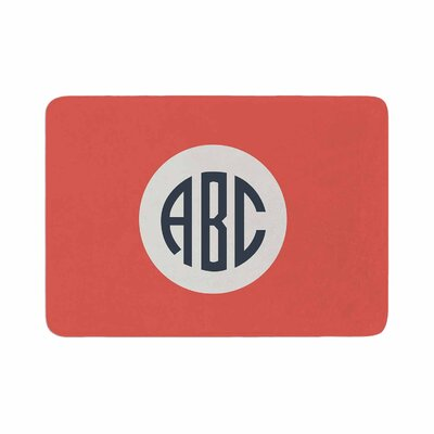 Classic Circle Monogram Digital Illustration Memory Foam Bath Rug Size: 0.5 H x 17 W x 24 D