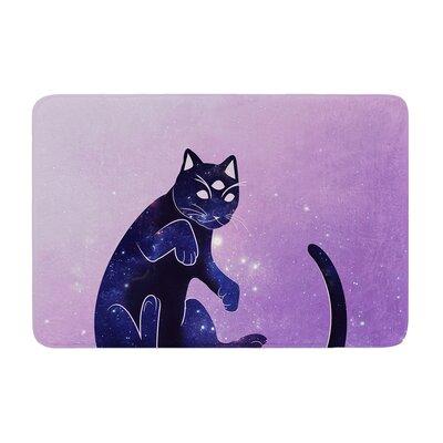 Cosmic Kitten Celestial Animal Memory Foam Bath Rug Size: 0.5 H x 17 W x 24 D