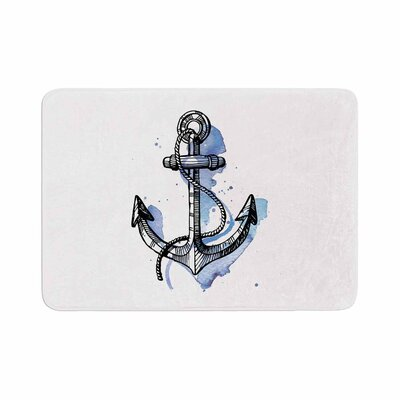 Anchor Watercolor Memory Foam Bath Rug Size: 0.5 H x 17 W x 24 D