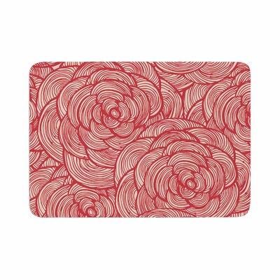 Roses Memory Foam Bath Rug Size: 0.5 H x 24 W x 36 D