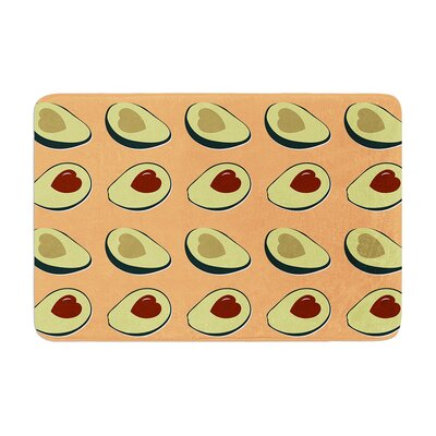 Avocado Love Food Memory Foam Bath Rug Size: 0.5 H x 24 W x 36 D