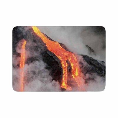 Hawaiian Lava Memory Foam Bath Rug Size: 0.5 H x 17 W x 24 D