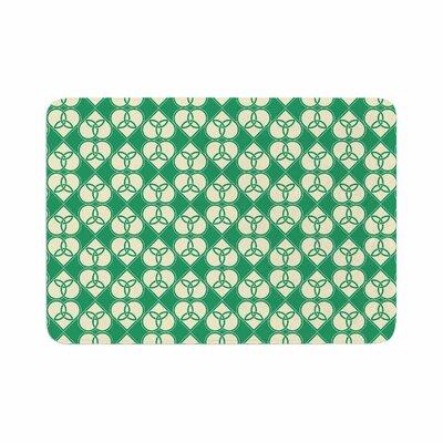 Celtic Pattern Memory Foam Bath Rug Size: 0.5 H x 17 W x 24 D
