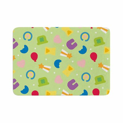 Charms of Luck Memory Foam Bath Rug Size: 0.5 H x 17 W x 24 D