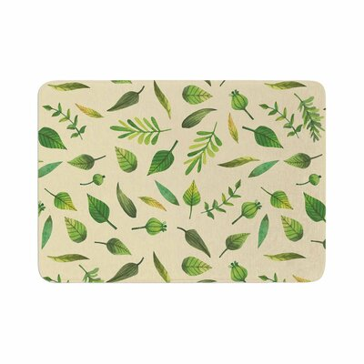 I Be Leaf in You Memory Foam Bath Rug Size: 0.5 H x 17 W x 24 D