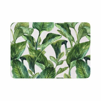 Banana Leaves Memory Foam Bath Rug Size: 0.5 H x 17 W x 24 D