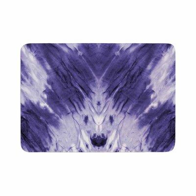 Violet Dye Digital Memory Foam Bath Rug Size: 0.5 H x 17 W x 24 D