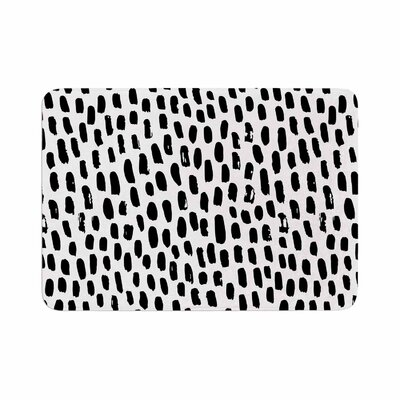 Ink Dots Memory Foam Bath Rug Size: 0.5