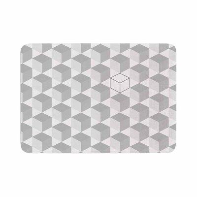 Cubed Geometric Memory Foam Bath Rug Size: 0.5 H x 24 W x 36 D