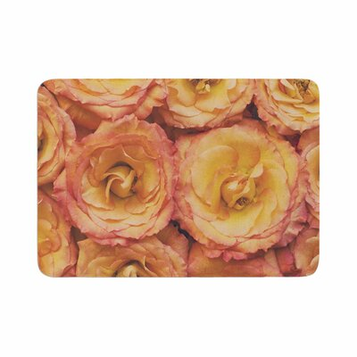 Kristi Jackson Bed of Roses Coral Memory Foam Bath Rug Size: 0.5 H x 17 W x 24 D