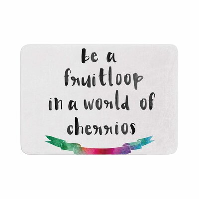Be a Fruitloop Watercolor Typography Memory Foam Bath Rug Size: 0.5 H x 24 W x 36 D