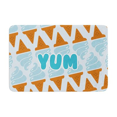 Yum! Ice Cream Memory Foam Bath Rug Size: 0.5 H x 17 W x 24 D