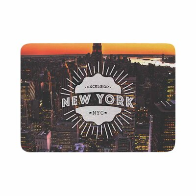 New York Memory Foam Bath Rug Size: 0.5 H x 17 W x 24 D