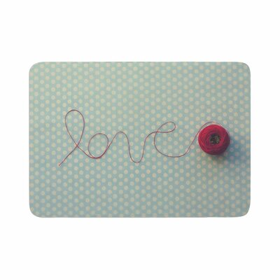 Kristi Jackson String of Love Photography Memory Foam Bath Rug Size: 0.5 H x 17 W x 24 D