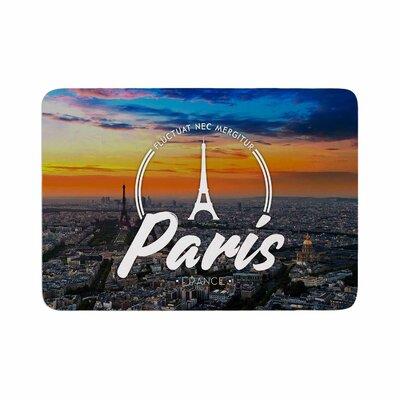 Paris Travel Memory Foam Bath Rug Size: 0.5 H x 24 W x 36 D