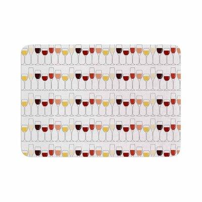Fine Wines Memory Foam Bath Rug Size: 0.5 H x 17 W x 24 D