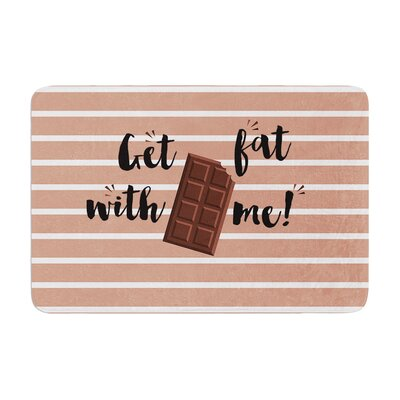 Get Fat Chocolate Memory Foam Bath Rug Size: 0.5 H x 24 W x 36 D