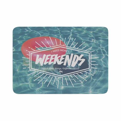 More Weekends Memory Foam Bath Rug Size: 0.5 H x 17 W x 24 D