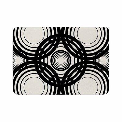 Kathryn Pledger Mono Geo Geometric Memory Foam Bath Rug Size: 0.5 H x 24 W x 36 D