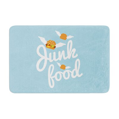 Junk Food Burger Memory Foam Bath Rug Size: 0.5 H x 24 W x 36 D