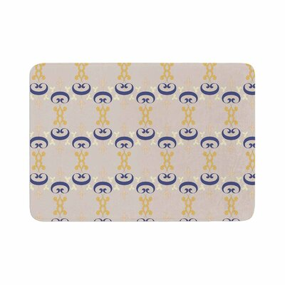 Louise Ornament Memory Foam Bath Rug Size: 0.5 H x 17 W x 24 D